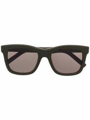 Солнцезащитные очки KZ40107I в квадратной оправе Kenzo. Цвет: зеленый