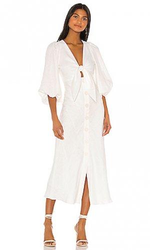 Платье миди savannah Shona Joy. Цвет: ivory