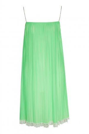 Неоново-зеленое платье-комбинация на бретелях Marc Jacobs (THE). Цвет: зеленый