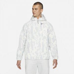 Мужской анорак для гольфа с камуфляжным принтом Repel - Белый Nike