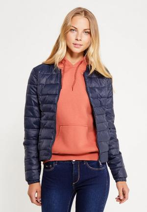 Куртка утепленная Only. Цвет: синий