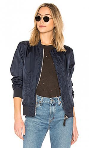 Двусторонняя куртка-бомбер liberty ALPHA INDUSTRIES. Цвет: синий