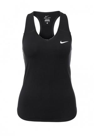 Майка спортивная Nike Womens NikeCourt Pure Tennis Tank. Цвет: черный