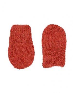 Перчатки CARAMEL. Цвет: ржаво-коричневый