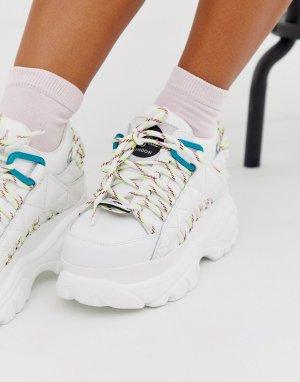 Белые классические кроссовки со шнуровкой в походном стиле London-Белый Buffalo