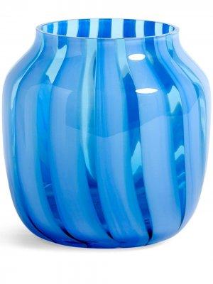 Широкая ваза в полоску Hay. Цвет: синий