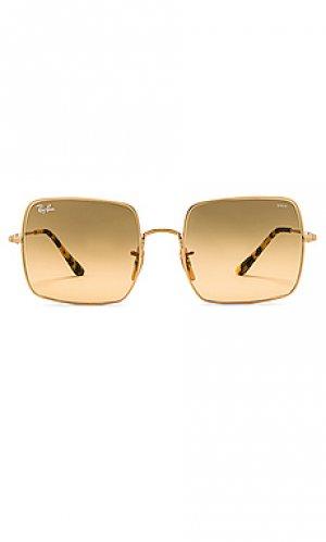 Солнцезащитные очки square evolve Ray-Ban. Цвет: металлический золотой