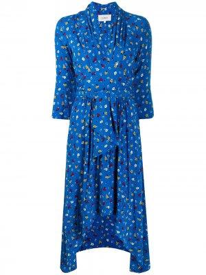 Платье-миди Lilia с цветочным принтом Ba&Sh. Цвет: коричневый
