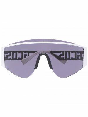 Массивные солнцезащитные очки Gcds. Цвет: белый