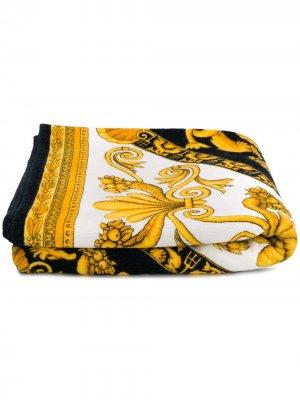Пляжное полотенце 1994/95-го года с принтом Baroque Versace Pre-Owned. Цвет: черный