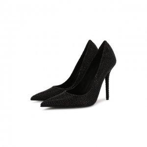 Текстильные туфли Versace. Цвет: чёрный