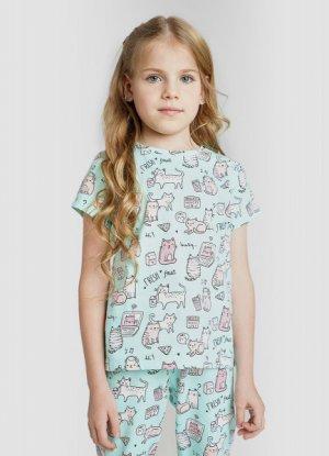 Пижама для девочек O`Stin. Цвет: аквамарин