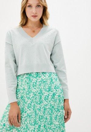 Пуловер Befree. Цвет: голубой