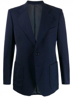 Пиджак Facis 1970-х годов с широкими лацканами A.N.G.E.L.O. Vintage Cult. Цвет: синий