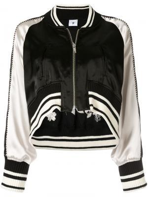 Укороченная куртка-бомбер с вышивкой Maison Mihara Yasuhiro