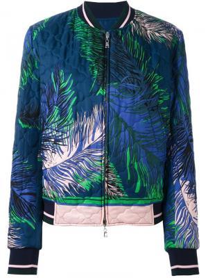 Куртка бомбер с принтом Emilio Pucci. Цвет: синий