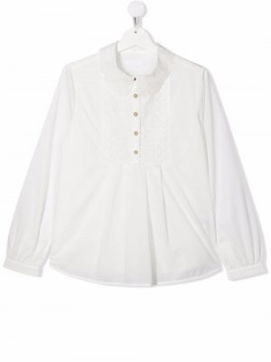 Embroidered cotton blouse Chloé Kids. Цвет: белый