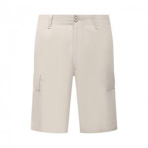 Хлопковые шорты Polo Ralph Lauren. Цвет: бежевый