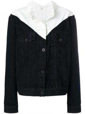 Двухцветная джинсовая куртка Unravel Project. Цвет: чёрный