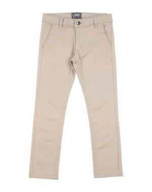 Повседневные брюки iDO by MINICONF. Цвет: бежевый