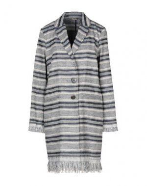 Легкое пальто MALÌPARMI. Цвет: синий