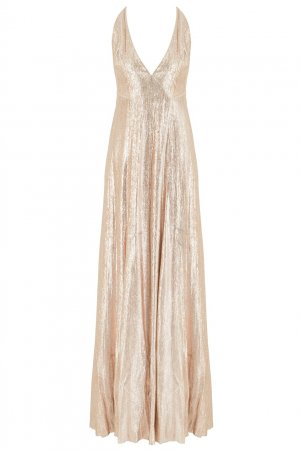 Вечернее платье с люрексом The Vampire's Wife. Цвет: золотой