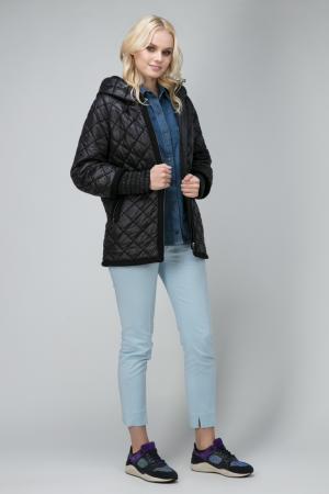Короткая утепленная женская куртка с капюшоном Laura Bianca. Цвет: черный