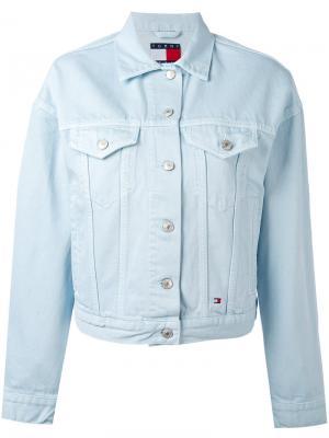 Джинсовая куртка с нагрудными карманами Tommy Jeans. Цвет: синий