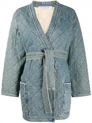 Стеганая джинсовая куртка Philosophy Di Lorenzo Serafini. Цвет: синий