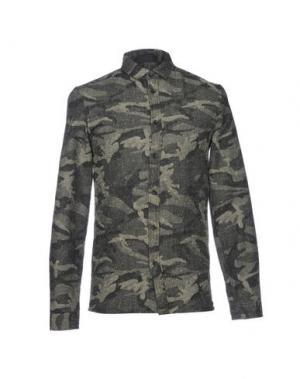 Pубашка ANERKJENDT. Цвет: зеленый-милитари