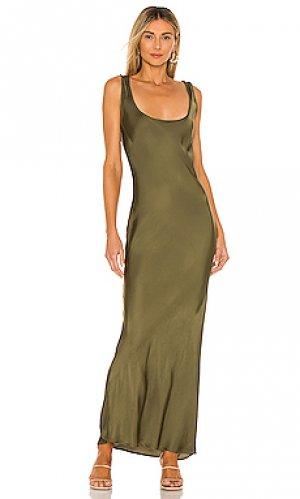Платье-комбинация simple Cali Dreaming. Цвет: зеленый