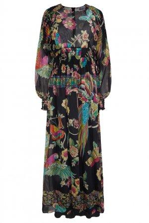 Длинное платье с цветочным принтом Red Valentino. Цвет: multicolor