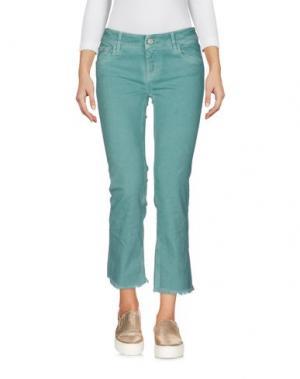 Джинсовые брюки-капри CYCLE. Цвет: зеленый