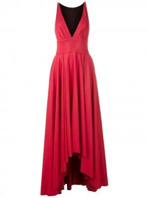 Длинное платье с V-образным вырезом Eva. Цвет: розовый