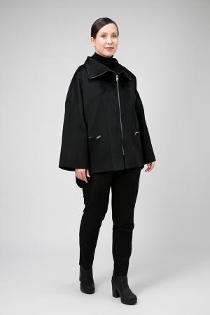 Комбинированное короткое пальто для больших размеров ALIV. Цвет: черный