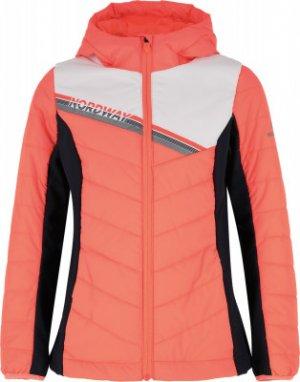 Куртка утепленная для девочек , размер 152 Nordway. Цвет: оранжевый