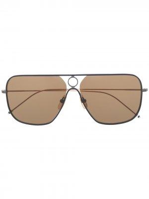 Солнцезащитные очки-авиаторы Thom Browne Eyewear. Цвет: черный