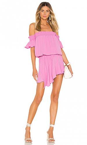 Платье ariella Amanda Uprichard. Цвет: розовый