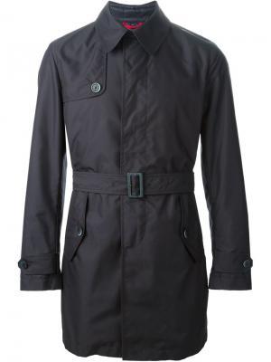 Пальто-тренч со съёмной жилеткой Fay. Цвет: синий