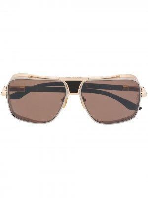 Солнцезащитные очки со съемными дужками Dita Eyewear. Цвет: коричневый