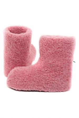 Тапочки высокие Alwero. Цвет: розовый