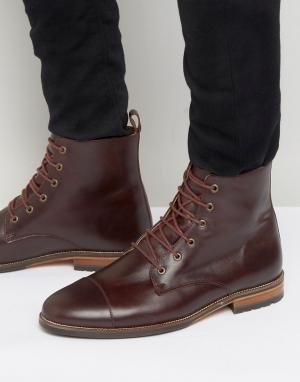 Ботинки на шнуровке Le Luthier Bobbies. Цвет: красный
