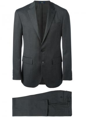 Классический костюм-двойка Polo Ralph Lauren. Цвет: серый