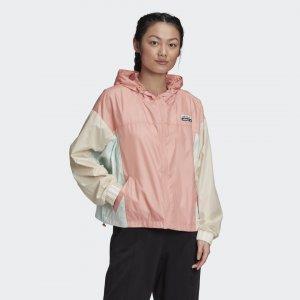 Ветровка R.Y.V. Originals adidas. Цвет: розовый