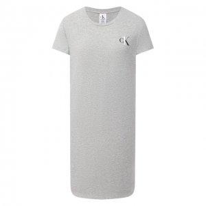 Хлопковая сорочка Calvin Klein. Цвет: серый