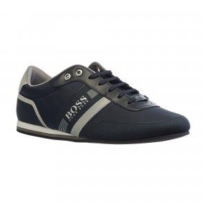 Кеды Lighter Low Profile Sneakers in Textured Nylon HUGO BOSS