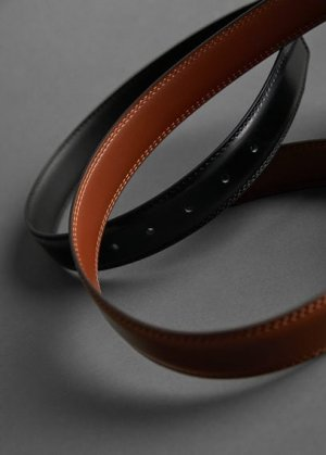 Кожаный ремень - Basic Mango. Цвет: коричневый