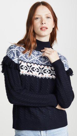 Fair Isle Fringe Sweater Autumn Cashmere