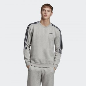 Джемпер 3-Stripes Crew Performance adidas. Цвет: серый