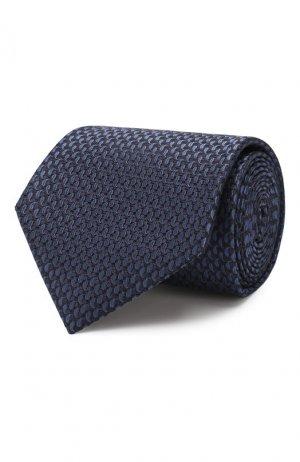 Шелковый галстук Brioni. Цвет: темно-синий